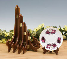 Wood Plate Stands / Easels New 4 Colors 4 Sizes
