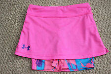 NWT Under Armour Tennis Skirt Skort Shorts Girls 18 M 3 3T Giselle Pink