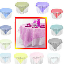 72  x 72 inch Square Organza Overlay multiple colors Wedding Table Decoration