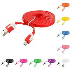 6 FT Noodle Flat Micro USB Data Cable Charger Cord 6FT for Cell Phones