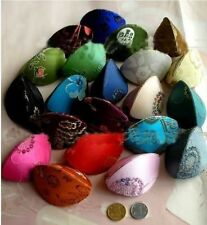 Wholesale 10/20/30/50/100PCS MixColo Embroidered Silk Jewelry Coin Ring Bag Box