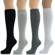 Womens Ladies Girls Knee High Long Plain Socks Lot New
