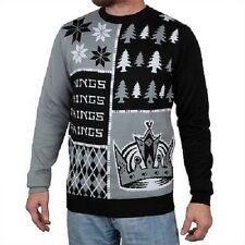 Los Angeles Kings Ugly Sweater - Busy Block - NEW NHL Christmas Holiday