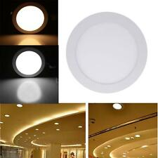 9W Round LED Recessed Ceiling Panel Light Lamp for Bathroom Kitchen AC85-265V