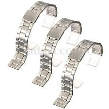 16/18/20/22mm Silver Stainless Steel Watch Band Strap Straight End Bracelet Link