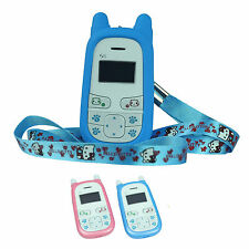 Cell Phone Unlocked For Children Kids S5 New Four Frequency One Key Call Blue/P