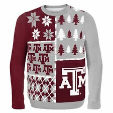 Texas A&M Aggies Ugly Sweater - Busy Block - NEW NCAA Christmas Holiday