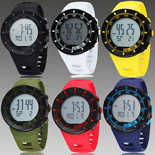 OHSEN 6 Color Mens Womens Unisex Digital Quartz Sport Rubber Band Wrist Watch