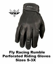 Fly Racing Leather Rumble Perforated Gloves Harley Davidson Cruiser Chopper