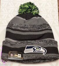NEW ERA NFL SEATTLE SEAHAWKS GRAPHITE GRAY CUFF KNIT BEANIE HAT ONE SIZE ADULT