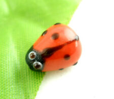 Wholesale Mixed Lots Ladybug Lampwork Glass Spacer Beads Red 15x10mm