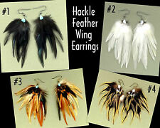 ANGEL WING Real Feather Earrings - HEAVENLY!!! ~ Handmade in USA!
