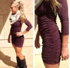LULULEMON ANYTIME Bodycon DRESS heathered Bordeaux Drama VITASEA 4 6 8 10