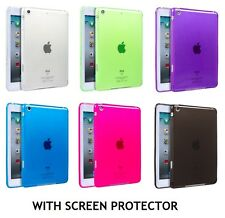 TPU Gel Skin Case Back Cover For Apple Ipad Mini with Screen Protector & Cloth