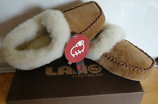 NIB WOMEN'S SLIPPERS LAMO SUEDE WITH FLEECE LINING WARM Sizes 6 7 8 9 & 10