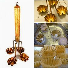 THAI CRISPY FRIED FOOD MOLD FORMING 4 CUP KRATHONG THONG COOKING EQUIPMENT BRASS