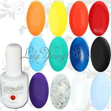 Varnish Color Long-lasting Nail Art UV Gel Soak off Polish Gelish Tips 15ml
