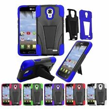 For LG F70 D315 Dual Layer Stand Hybrid Hard Silicone Dirt Proof Cover Case