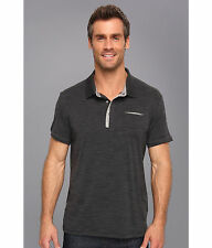 New Icebreaker Men's Quattro Short Sleeve Polo Jet XL merino wool $120