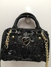 Betsey Johnson *Mini* Crossbody Handbag Black *Shoulder Purse New
