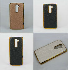 Football Pattern Plated PU Leather Hard Back Cover Case For LG G2