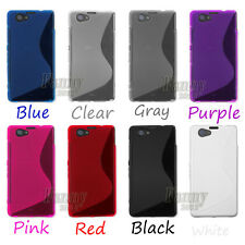 Gel Silicone Skin Cover Case for Sony Xperia Z1 Compact, D5503 +Screen Protector