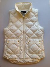 J. Crew Excursion Quilted Down Vest NWT Color: Bright Ivory Size: XXS-L