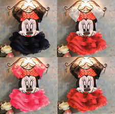 2015 Baby Girls Dress Cute Minnie Mouse Dresses Kids Toddler T-Shirt Tutu Dress