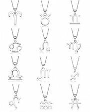 Sterling Silver Zodiac Constellation Charms Pendant Necklace New Jewelry