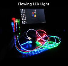 Flowing Visible LED Lighting Micro USB Data Sync Charger Cable For Smart phone
