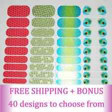 JAMBERRY Nail Wraps - Half sheets in 40 various designs - CHEAP! FREE Shipping