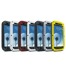 Aluminum Metal Shock/Water Proof Gorilla Glass Case Cover For Samsung Galaxy S3