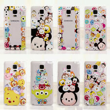 Cute Cartoon Crystal Clear TPU Soft Case Cover for Samsung Note3 Note4 S3 S4 S5
