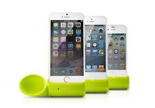 "Portable Silicone Horn Stand Audio Dock Amplifier Speaker For iPhone6 4.7"" 5S 4S"