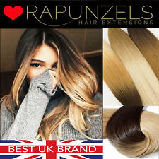 """20"""" dip dye ombre clip in hair extensions DIY weave remy human hair extensions"""