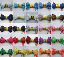 20 Yards/Lot Satin Rattail Silky Cord Nylon Macrame Knot 2mm 25 Colors For DIY