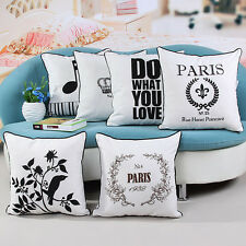 "Romantic Simple 18"" Canva Pillow Case Square Sofa Waist Cushion Cover Home Decor"