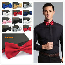 Fashion Man Tuxedo Classic Solid Color Butterfly Wedding Party Bowtie Adjustable