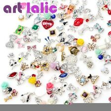 10pcs 3D Nail Art Alloy Decoration Bling Rhinestone Charm Glitter Tips DIY #N4