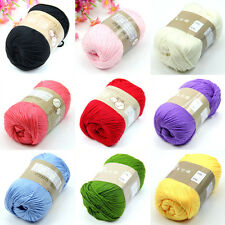 Soft Fingering Natural Bamboo Cotton Knitting 50g Yarn Crochet Cotton Hot