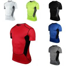 S-XXL Mens Compression Base Layer Tee Shirts Athletic Tank Tops Sport Collection