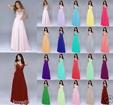 New Hot Long Formal Evening Ball Gown Party Prom Bridesmaid Dress Stock Size6-18