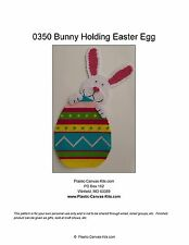 Bunny holding Easter Egg Wall Hanging-Plastic Canvas Pattern or Kit