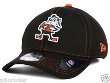 CLEVELAND BROWNS NFL NEW ERA 39THIRTY BROWNIE THE ELF FLEXFIT BROWN HAT/CAP NWT