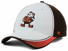 CLEVELAND BROWNS NFL BATTLEHAWK '47 CLOSER BROWNIE THE ELF FLEXFIT HAT/CAP NWT