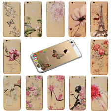 Thin Fashion Pattern Transparent Hard Back Case Cover for iPhone 5 5S  5C 6 4.7""