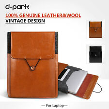 """dpark Genuine Leather Case Pouch Bag For Macbook air/pro 11"""" 12"""" 13"""" 15"""" 17"""""""