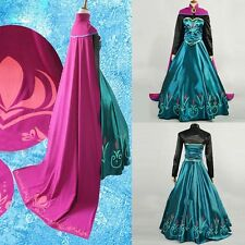 Fashion Princess Adult Girl Party Prom Gown Dress/Cloak Suit  Cosplay Costume