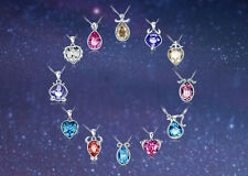 Crystal Pendants of Astrology 12 Zodiac Constellations Colorful Crystal Necklace