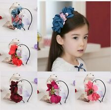 beauty flower kids princess hairband hair circle Accessories gifts for girls